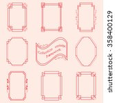 collection of stylish frames to ... | Shutterstock .eps vector #358400129