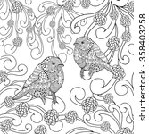 birds coloring page. animals.... | Shutterstock .eps vector #358403258