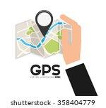 gps service design  | Shutterstock .eps vector #358404779