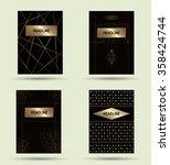 flyer design templates. set of... | Shutterstock .eps vector #358424744
