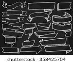 banners with shadows set on... | Shutterstock .eps vector #358425704