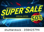 space background sale. big  tag ... | Shutterstock .eps vector #358425794
