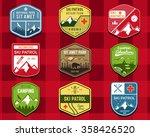set of ski club  patrol labels. ... | Shutterstock .eps vector #358426520