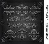 vector set  calligraphic design ...   Shutterstock .eps vector #358428359
