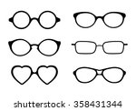 set of eye glasses icons... | Shutterstock .eps vector #358431344