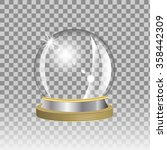 empty snow globe on transparent ... | Shutterstock .eps vector #358442309