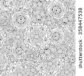 black and white floral seamless ... | Shutterstock .eps vector #358447538