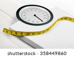 Stock photo weight scale 358449860