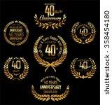 anniversary golden laurel... | Shutterstock .eps vector #358454180
