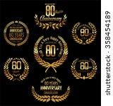 anniversary golden laurel... | Shutterstock .eps vector #358454189
