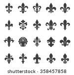 fleur de lis set | Shutterstock .eps vector #358457858