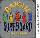 surf's up hand lettering  t... | Shutterstock .eps vector #358461506