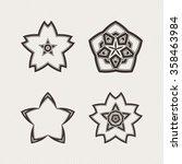 set of ornate vector mandala... | Shutterstock .eps vector #358463984