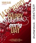 valentines day party flyer... | Shutterstock .eps vector #358471829