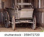 Old Horse Driven Carriage In A...