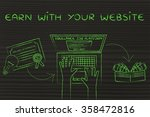 earn with your website  from... | Shutterstock . vector #358472816