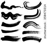 brush stroke illustrations.... | Shutterstock .eps vector #358473314