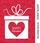 happy valentines day card  | Shutterstock .eps vector #358476269