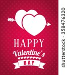 happy valentines day card  | Shutterstock .eps vector #358476320