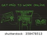 get paid to work online  from... | Shutterstock . vector #358478513