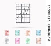 chart curve icon. graph diagram ... | Shutterstock .eps vector #358480778