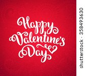 happy valentine's day card.... | Shutterstock .eps vector #358493630