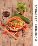 earthenware bowl of pasta... | Shutterstock . vector #358498808