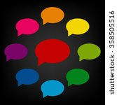 speech bubble icon set | Shutterstock .eps vector #358505516