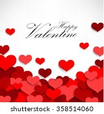valentine heart on a white... | Shutterstock . vector #358514060