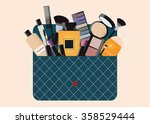 makeup cosmetics bag with...