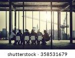 group of multiethnic people... | Shutterstock . vector #358531679