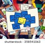 smiley outstanding positive... | Shutterstock . vector #358541063
