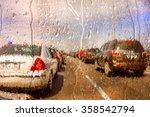 Through A Car Windshield Durin...