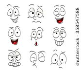 illustrations of funny faces | Shutterstock .eps vector #358547588