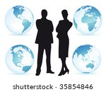 business man and woman all... | Shutterstock .eps vector #35854846