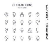 ice cream icons. | Shutterstock .eps vector #358553996