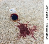 glass of red wine fell on... | Shutterstock . vector #358559324