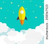 space rocket launch. vector... | Shutterstock .eps vector #358567523