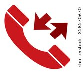 red telephone with call back... | Shutterstock . vector #358570670