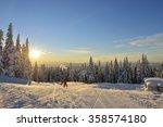 Skiers On Grouse Mountain Ski...