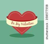 be my valentine love background | Shutterstock .eps vector #358577558