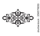vintage baroque frame scroll... | Shutterstock .eps vector #358579850