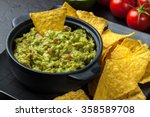 Bowl Of Guacamole With Corn...