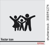 happy family icon in simple... | Shutterstock .eps vector #358591274