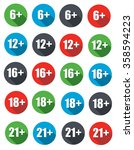 6 plus  12 plus   16 plus   18...   Shutterstock . vector #358594223