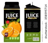 orange juice template packaging ... | Shutterstock .eps vector #358595714