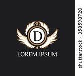 d letter vector logo template ...   Shutterstock .eps vector #358598720