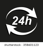 24 hours    vector icon with... | Shutterstock .eps vector #358601123