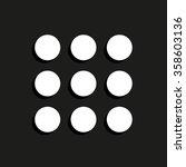 menu    vector icon with shadow