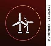 wind energy icon | Shutterstock .eps vector #358603619